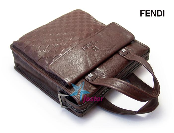 Классический мужской портфель для документов Fendi мужская сумка