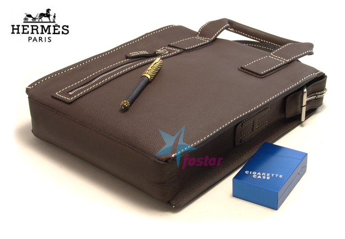 Портфель мужской вертикальный Hermes 17188-2 стильная сумка
