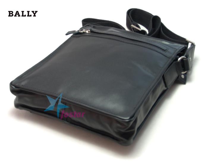 Черная мужская сумка - планшет Bally 187-1BK сумка через плечо