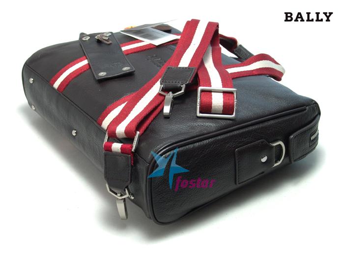 Кожаный мужской портфель с замком Bally 242437BR