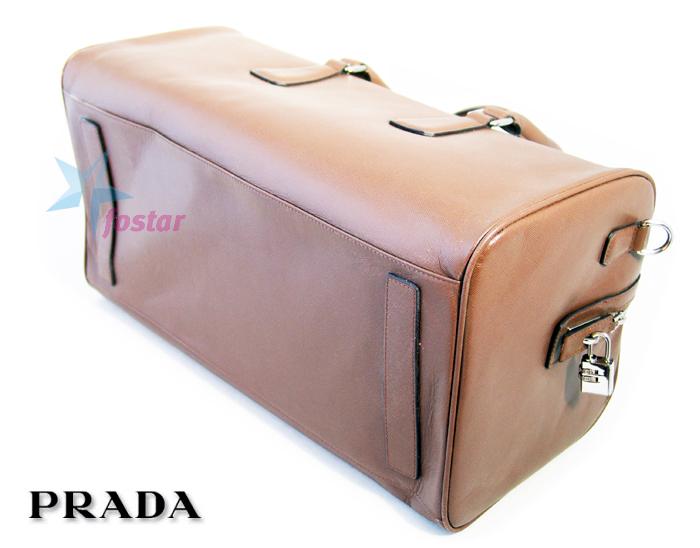 Мужская багажная сумка Prada Milano кожаная сумка