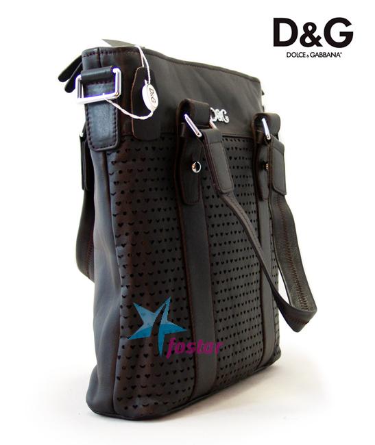 Молодежная мужская сумка Dolce & Gabbana кожаная сумка