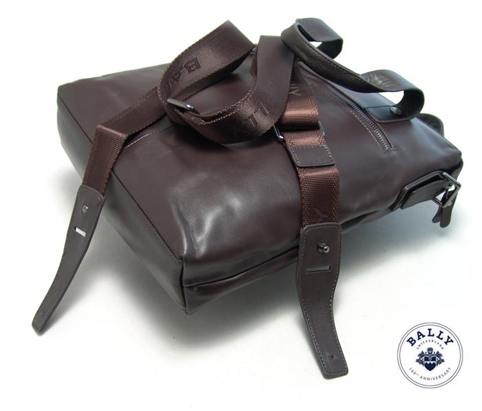 Стильный мужской вертикальный портфель Bally 835-2BR