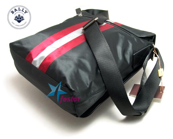 Черная мужская сумка в спортивном стиле Bally BA199-2D-BK