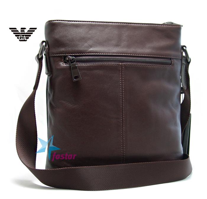 кожаная сумка мужская через плечо armani - Сумки.
