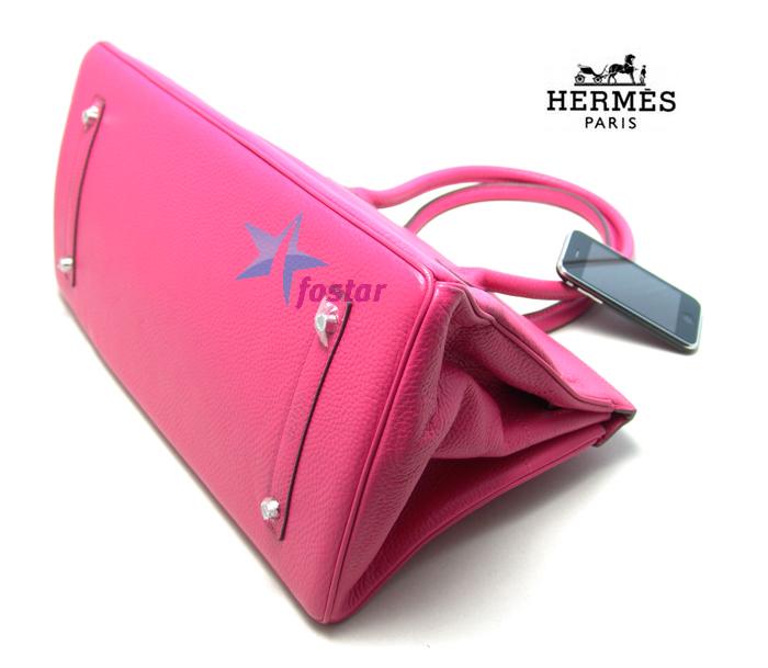 Розовая модная большая сумка Hermes H7007WPINK женская