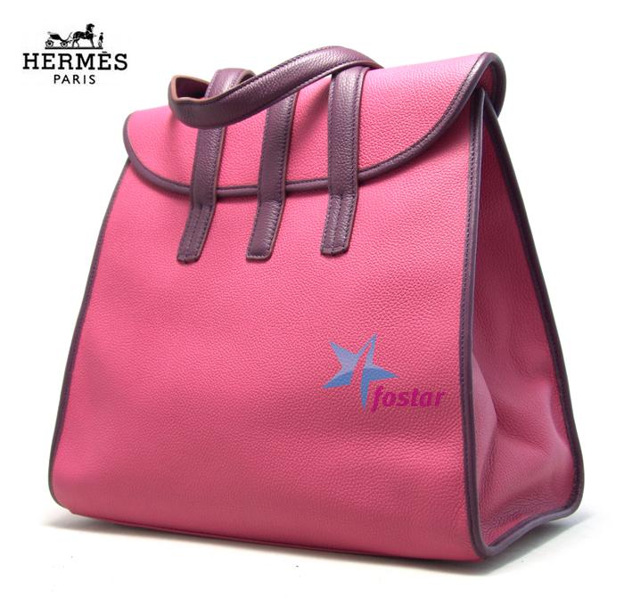 Большая пляжная сумка Hermes 505095PINK-VIOLET