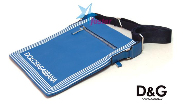 Молодежная мужская сумка через плечо Dolce & Gabbana 7829BL
