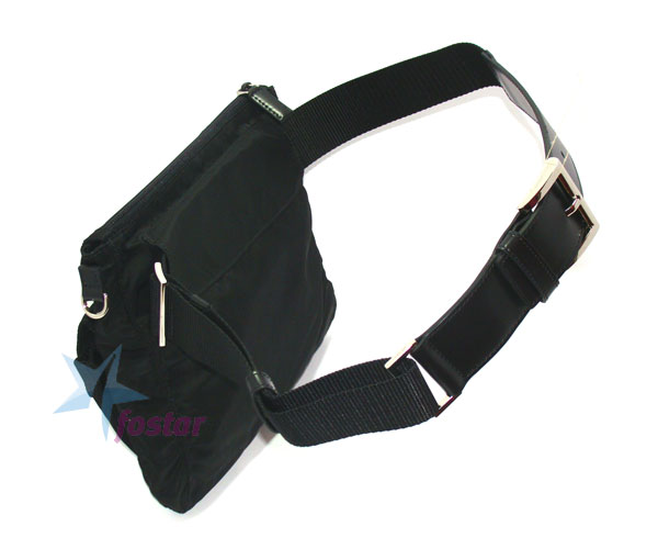 Молодежная сумка на пояс Prada Vela Sport BM0011 мужская сумка