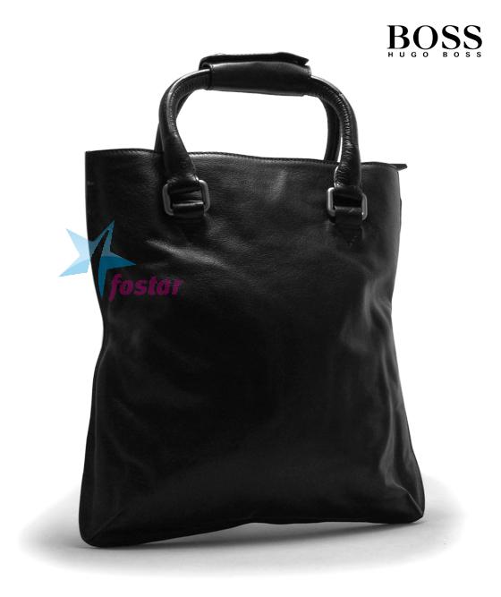 Черная стильная мужская сумка Hugo Boss D2052-3-46BK