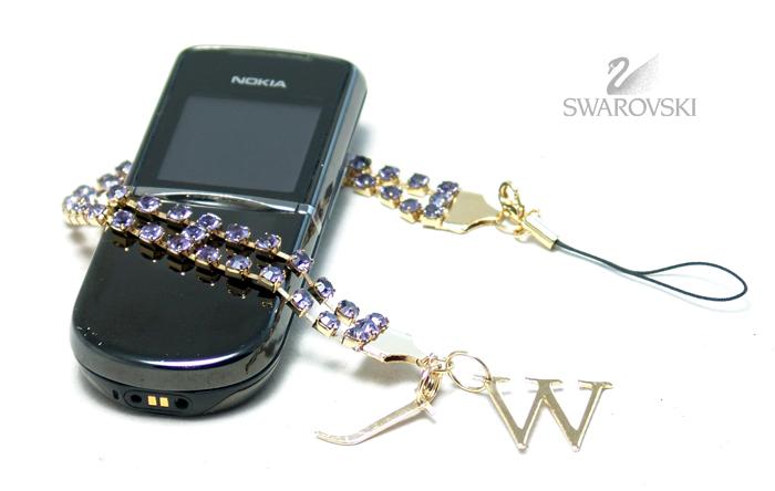 Украшение для мобильного телефона Swarovski ( GD/BL )