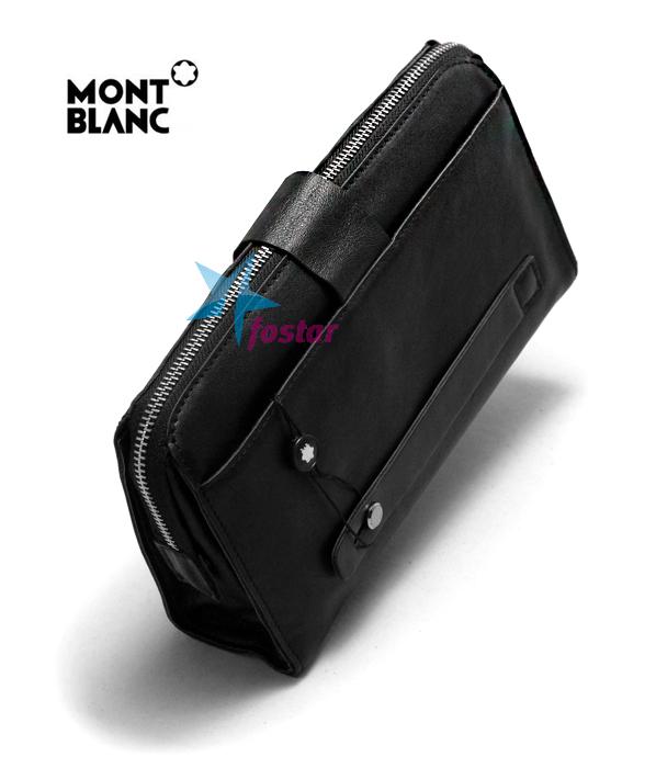 d9d42405d18d Черная стильная мужская барсетка Mont Blanc 3012-2. Черная стильная мужская  барсетка Mont Blanc 3012-2