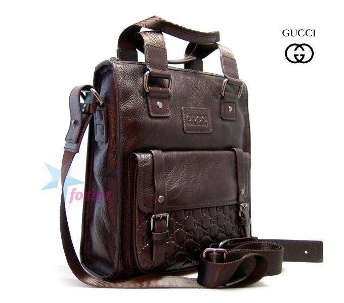 Мужская кожаная сумка Gucci стильный портфель для документов - fostar.ru 96cdffd1c0f