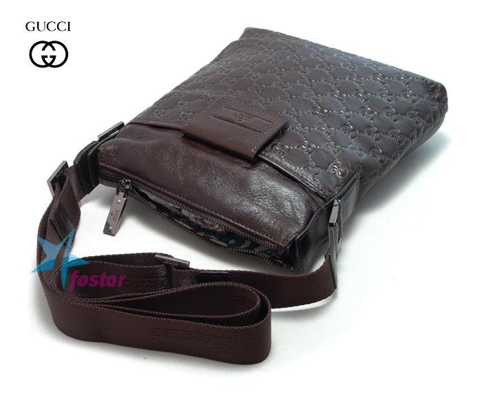Кожаная мужская сумка через плечо Gucci 5806-1 - fostar.ru d05934d480e