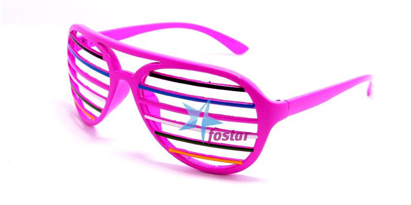 f1e2d58b7a77 Молодежные очки розовые очки с разноцветными полосками - fostar.ru