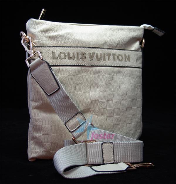 d8e332f72fe3 Белая кожаная мужская сумка Louis Vuitton планшет через плечо ...