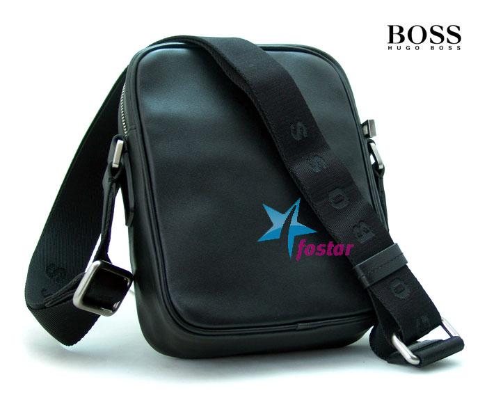 Маленькая мужская сумка через плечо Hugo Boss 40515BK - fostar.ru 47236915648