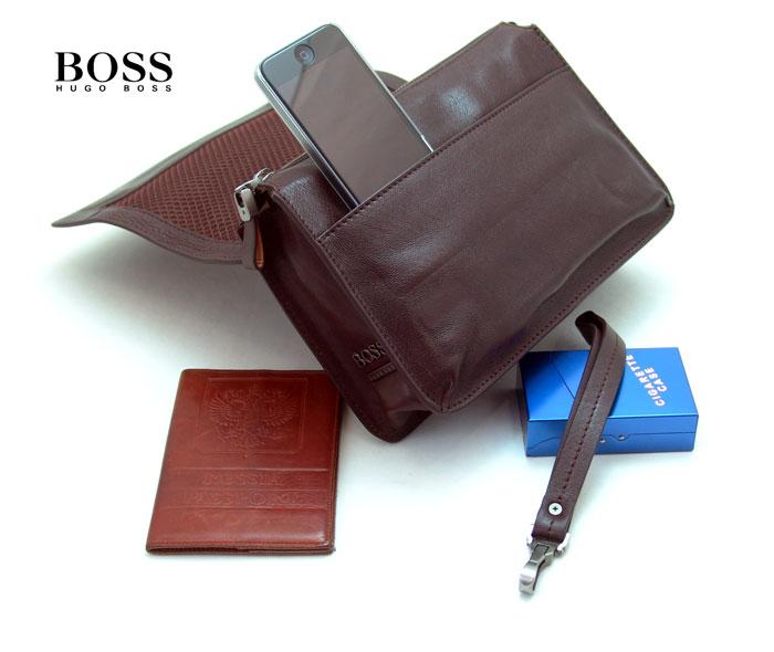 cda7b1a2a220 Стильная мужская барсетка Hugo Boss D6055-10-47BR - fostar.ru