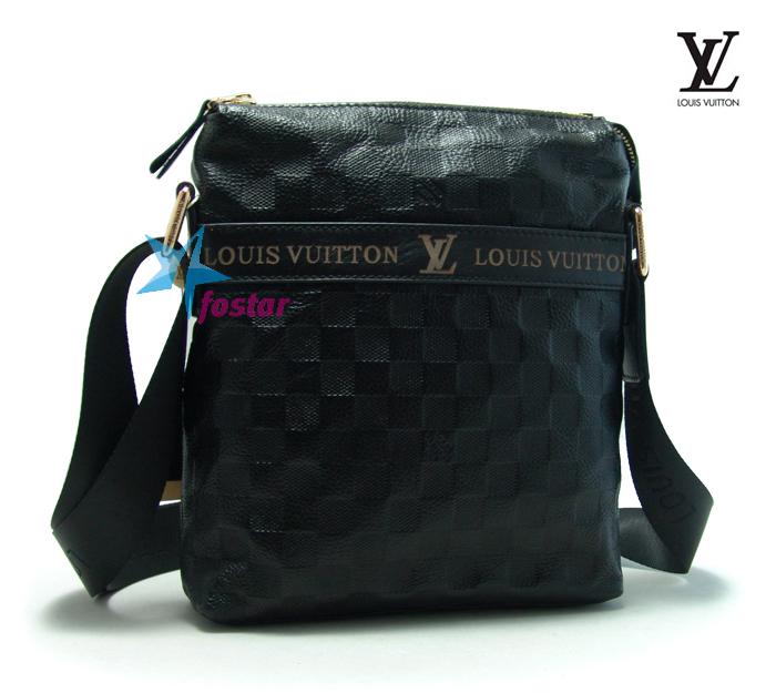06975fdb28b1 Кожаная мужская сумка через плечо Louis Vuitton LV1010-5BK - fostar.ru