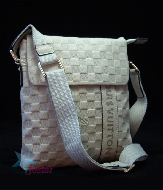 01d1c4583f76 Белая мужская сумка планшет Louis Vuitton сумка через плечо - fostar.ru