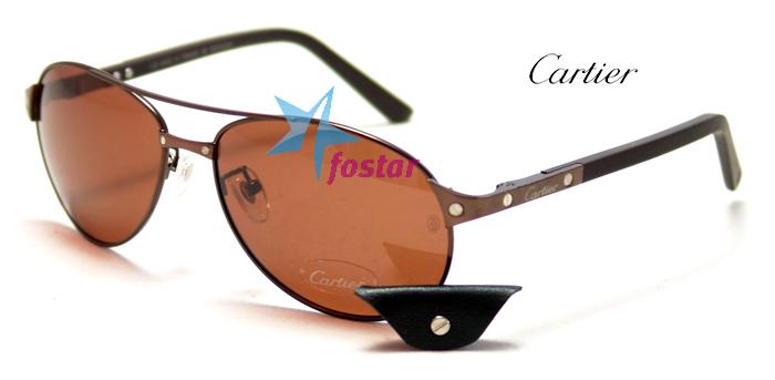 aad6b1af0b33 Мужские солнцезащитные очки Сartier T8200586 - fostar.ru