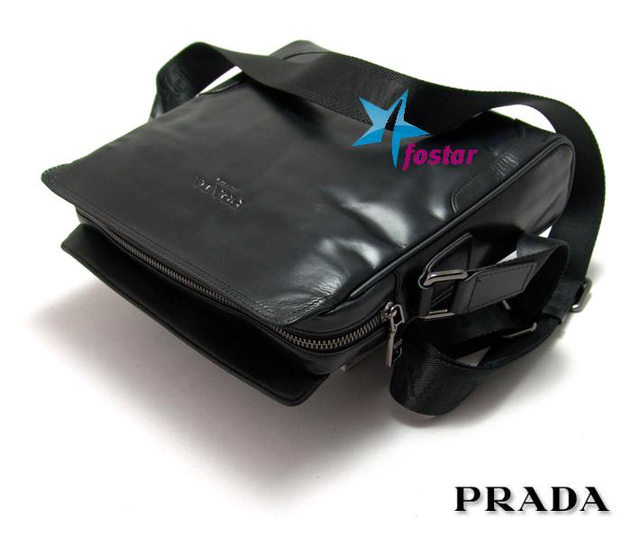 d25622b81212 Черная мужская сумка через плечо Prada 8917-4BK - fostar.ru